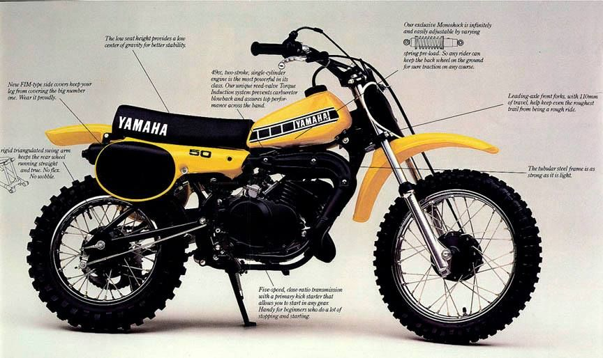 YAMAHA YZ50 (80-83) PARTS