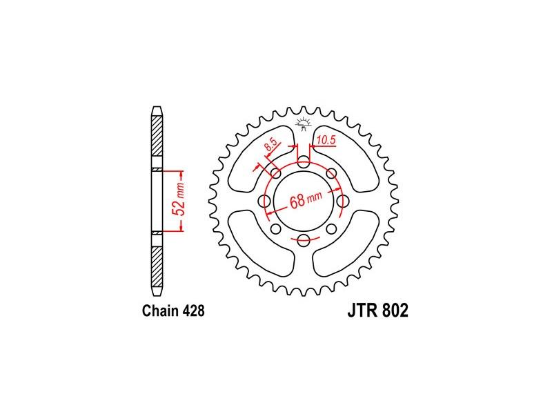 802-50 REAR SPROCKET CARBON STEEL