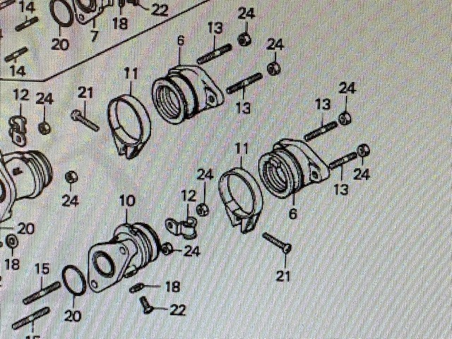 HONDA CB125TD, TDC INLET MOUNTING RUBBER & FLANGE 16211-399-700