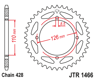 1466-47 REAR SPROCKET CARBON STEEL