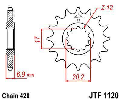 1120-11 FRONT SPROCKET CARBON STEEL