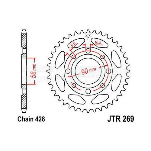 269-41 REAR SPROCKET CARBON STEEL
