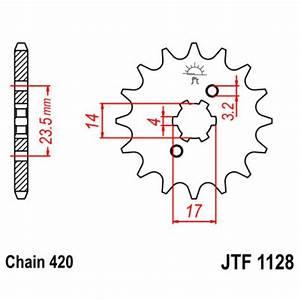 1128-11 FRONT SPROCKET CARBON STEEL