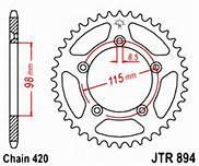894-50 REAR SPROCKET CARBON STEEL
