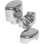 """LA CHOPPERS RISERS SMOOTH FOR 1"""" HANDLEBARS 1.5"""" RISE CHROME UNIVERSAL"""