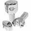 """LA CHOPPERS RISERS SMOOTH FOR 1"""" HANDLEBARS 3"""" RISE CHROME UNIVERSAL"""