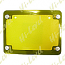 NUMBER PLATE SURROUND 6 DIGIT GOLD