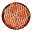STICK-ON REFLECTOR ORANGE ROUND BLACK RIM OD 60MM
