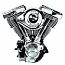 H/D FLH, FLHR, FLHS, FLTC, ETC 1340cc Engine V96 Tüv Black (COMPLETE) with super G carb etc