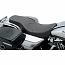HARLEY DAVIDSON FLHR SEAT SPOON STYLE FRONT | REAR 2-UP VINYL BLACK