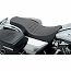 HARLEY DAVIDSON FLHR SEAT SPOON STYLE FRONT | REAR 2-UP VINYL BLACK A