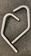 HONDA CB200 LOOK-A-LIKE Exhaust down pipes (pair) In Stainless Steel NEW!