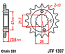 1307-14 FRONT SPROCKET CARBON STEEL