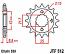 512-17 FRONT SPROCKET CARBON STEEL