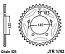 1792-47 REAR SPROCKET CARBON STEEL