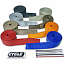 """CYCLE PERFORMANCE WRAP KIT EXHAUST 2"""" X 25' WITH TIE RED/STAINLESS"""