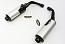 Honda CBR1000F 89-91 Silencers - Original Style - Black & Aluminuim
