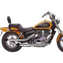 HONDA VT1100C SHADOW, HONDA VT1100C SHADOW SPIRIT (89-07) COBRA SLIP ON WITH SLASH CUT TIP CHROME