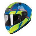 Airoh Valor Full Face Helmet - Marshall Azure Gloss (SIZES XS to XXL)