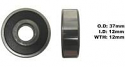 Bearing Koyo 6301DDU(ID 12mm x OD 37mm x W 12mm)