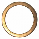 EXHAUST GASKET FLAT COPPER OD 40mm, ID 31mm, THICKNESS 4mm