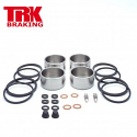 Brake Piston and Seal Overhaul Complete Kit Stainless Steel Front (Twin set )