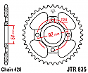 835-49 REAR SPROCKET CARBON STEEL