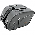 ALL AMERICAN RIDER SADDLEBAG FUTURA 2000 DOUBLE EXTRA LARGE RIVET BLACK
