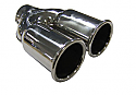 TAIL PIPE Twin 63mm Out Rolled Twin 63mm tail