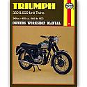 TRIUMPH 350, TRIUMPH 500 UNIT TWINS 1958-1973 WORKSHOP MANUAL