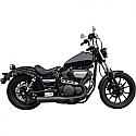 YAMAHA XV950, XV950 ABS, XV950R ABS, XV950 ABS RACER, XVS950C BOLT, XVS950C BOLT R-SPEC 2014-2016 BARON MUFFLER STRAIGHT BLACK