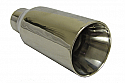 TAIL PIPE JAP Double Skin Tailpipe Polished double skinned tailpipe. Diameter 3.0in. Length aprox 6in