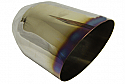 """TAIL PIPE JAP STYLE Jap 5 Inch Burnt Lip Tailpipe Slash cut 5"""" JAP style Tailpipe with burnt lip. Length aprox 8""""."""