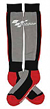 MOTOGP RACE BOOT SOCKS GRAY/BLACK/RED ADULT ONE SIZE