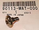 GENUINE HONDA PAN SCREW (6X14) 90113-MAT-000 CBR1100XX NSR50R