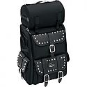 SADDLEMEN SISSY BAR BAG DELUXE TEXTILE BLACK CHROME - S3500S