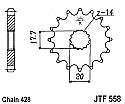 558-14 FRONT SPROCKET CARBON STEEL