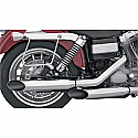 "H/D FXD, FXWG MUFFLERS 3"" SLIP ON SLASH CUT CHROME"