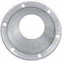 """HARLEY DAVIDSON END CAP OPEN (FOR 4"""" DISCS) BRUSHED STAINLESS STEEL"""