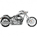 "HONDA VT1300CX FURY, VT1300CX ABS FURY, VT1300CT INTERSTATE, VT1300CS SABRE, VT1300CR STATELINE 2010-2017 COBRA 3"" SLIP ON MUFFLERS CHROME"