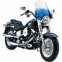 """H/D WINDSHIELD REPLACEMENT HANDLEBAR MOUNT WINDSHIELD REPLACEMENT CLASSIC DEUCE 18 1/2"""" GRADIENT BLUE"""