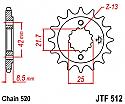 512-16 FRONT SPROCKET CARBON STEEL