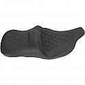 HARLEY DAVIDSON FLHR BA2-UP HEATED SEAT ROAD SOFA LS HEATED FRONT|REAR LEATHER|SADDLEGEL™ BLACK