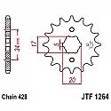 1264-16 FRONT SPROCKET CARBON STEEL