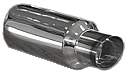 Jap Back Box & Tailpipe Polished Universal Silencer and Tailpipe Assembly. Inlet 2.0inch. Tailpipe 4.0inch