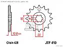 410-14 FRONT SPROCKET CARBON STEEL