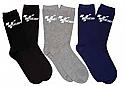 MOTOGP EVERYDAY COTTON MIX GP SOCKS ( 3 PAIR MULTI PACK BLACK/BLUE/GRAY)
