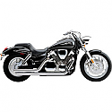 HONDA VTX1300C, HONDA VTX1300S (04-09) COBRA EXHAUST SYSTEM SPEEDSTER HOT ROD SLASH DOWN CHROME SYSTEM