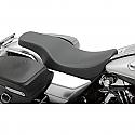 HARLEY DAVIDSON FLHR SEAT SPOON STYLE FRONT | REAR SMOOTH VINYL BLACK