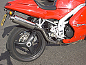 TRIUMPH DAYTONA, TRIUMPH SPRINT, 955I (97-06) PREDATOR HI-LEVEL SILENCER ROAD WITH R/BAFFLE IN S/STEEL